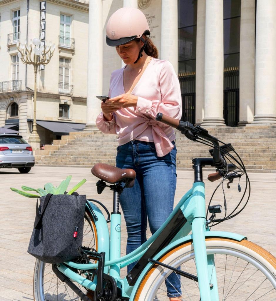 Connexion avec l'application du vélo électrique connecté