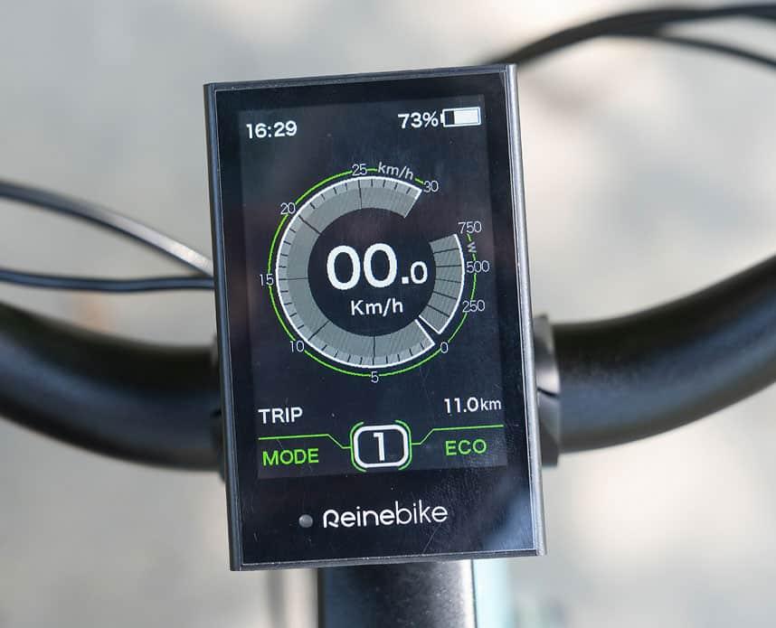 écran vélo électrique connecté du Reine Bike
