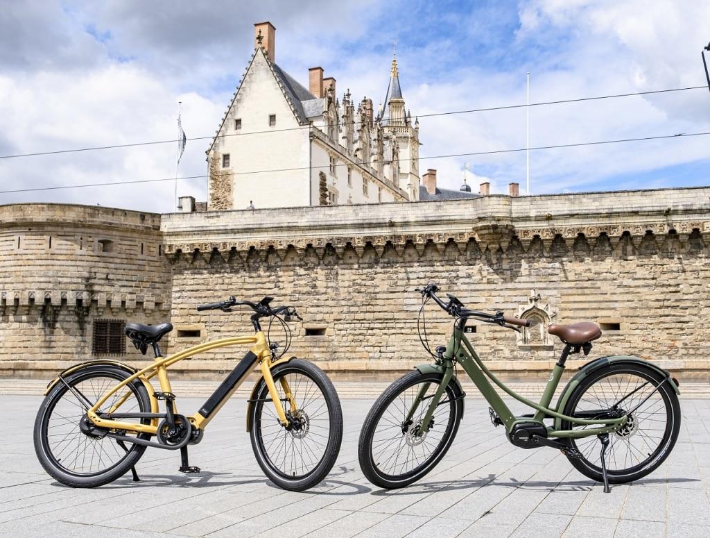Le vélo électrique haut de gamme Reine bike existe en cadre haut et cadre bas
