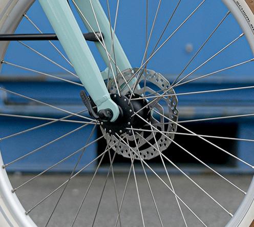 Freins à disques pour la sécurité du bike Reinebike, marque française haut de gamme
