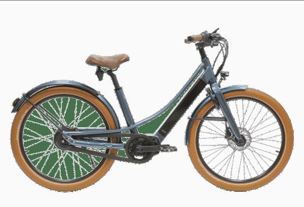 vélo électrique Reinebike cadre bas bleu foncé