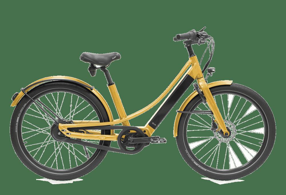 vélo électrique couleur doré en version cadre bas Reinebike made in france
