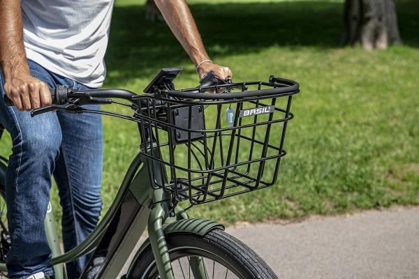 option panier avant à clipser sur vélo électrique Reinebike