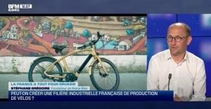 Interview de Stéphane Grégoire le fondateur du vélo électrique Reinebike à l'émission de BFM TV