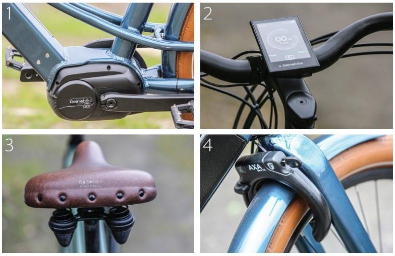les détails du vélo à assistance électrique nantais Reinebike