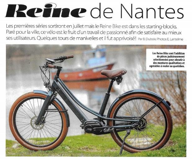 Essai du vélo électrique Reinebike par la magazine E-Bike, N°1 du VAE en France