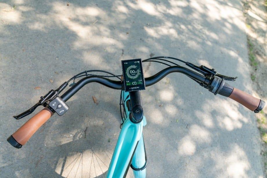 Commande des 5 modes d'assistance électrique via le guidon du vélo Reinebike